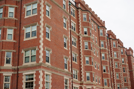mit: old brick apartment building in MIT