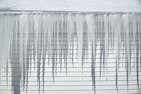 icicle hanging on the house roof