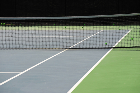 close up on tennis court