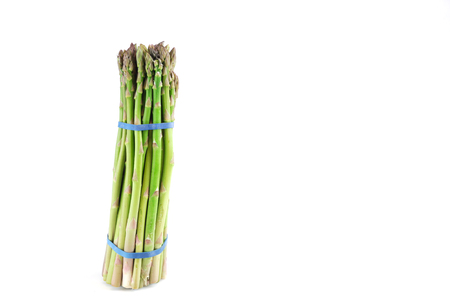 fresh asparagus in bunch isolated on white background Stock Photo