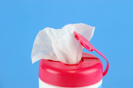 Close up of kids wipes in package Stock Photo