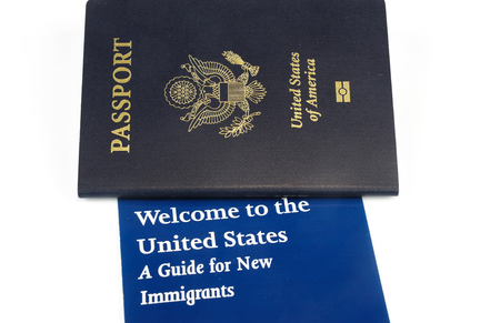 USA passport and immigration welcome letter
