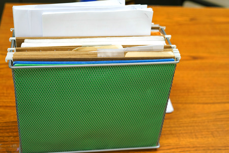 Close up on folders on the office table Zdjęcie Seryjne