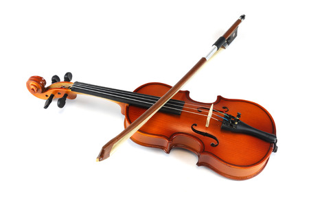 Violin isolated on white background Stock Photo