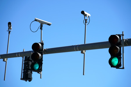 Traffic light and surveillance camera Stock Photo - 93411802