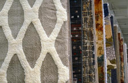 close up on hanging carpet Stock Photo