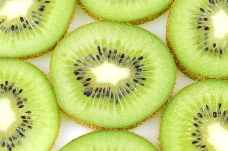 fresh slice kiwi fruit isolated on white background Reklamní fotografie