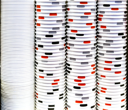 Stacking paper cups as background