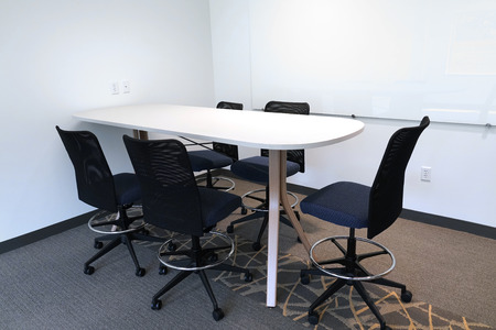 close up on meeting table and chair in the meeting room