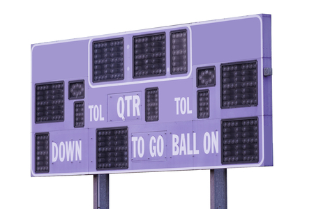 score board for sport game isolated on white background