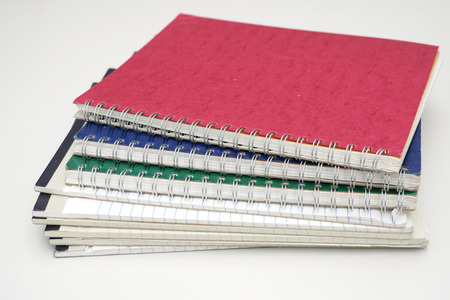 close up on stacking documents for design Stock Photo