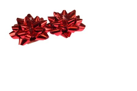 red bows isolated on the white background