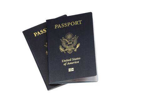 close up on passport of USA Фото со стока