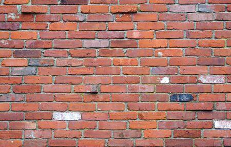 facade view of old brick wall backgroun Stock fotó