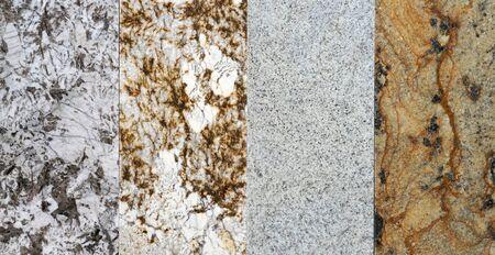granite floor tile samples demonstrated in store