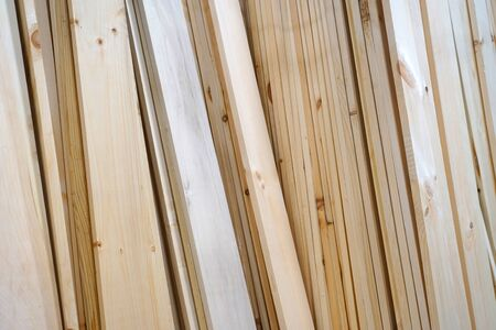 close up on wooden board stacking for sale 版權商用圖片