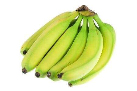 fresh banana isolated on white background 版權商用圖片