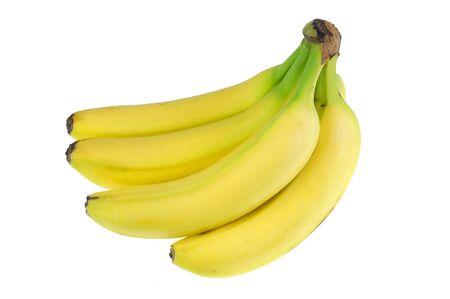fresh yellow banana isolated on white background 版權商用圖片
