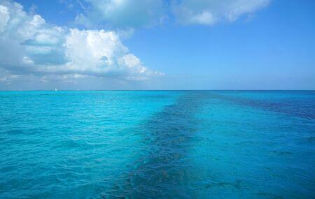 landscape of colorful sea under Caribbean sunlight