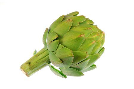 close up on artichoke isolated on white background Standard-Bild