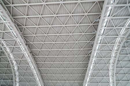 interior view of ceiling with steel structure