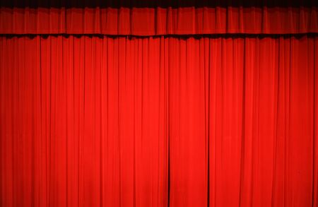 red stage curtain background for design Archivio Fotografico