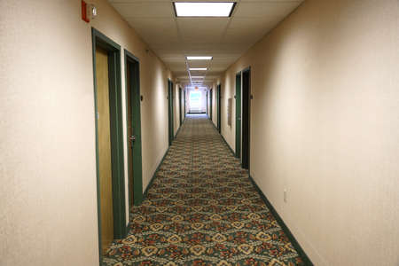 perspective view of corridor in the hotel Editorial
