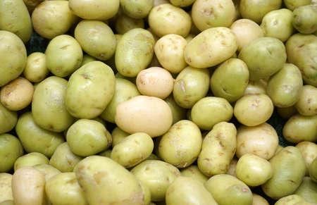 close up on green potato as food background Stok Fotoğraf