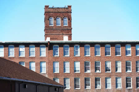old factory building with brick wall external