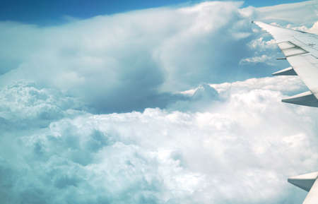 aerial view of cloud background from airplane Stok Fotoğraf