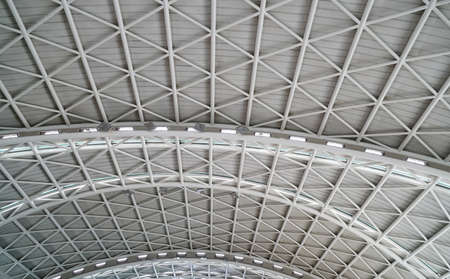 interior view of ceiling with bright light