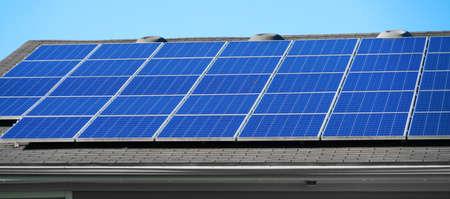 solar panel installed on the house roof