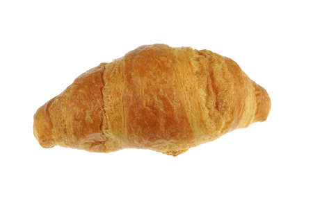 close up on butter cocktail croissants isolated on white background