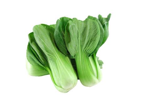 fresh bok choy vegetable isolated on white background