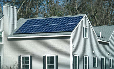 solar panel installed on the apartment roof