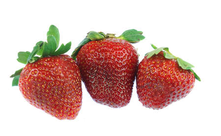 fresh strawberries isolated on white background as food background Stok Fotoğraf