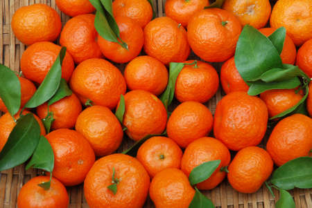 fresh tangerine as food background 免版税图像