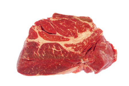fresh beef isolated on white background