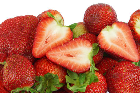 fresh strawberries isolated on white background 免版税图像 - 159418502
