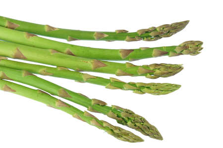 fresh asparagus isolated on white background
