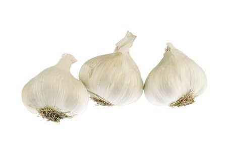 fresh garlic isolated on white background 免版税图像 - 159501783