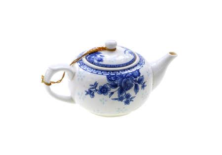 single porcelain teapot china isolated on white background 免版税图像 - 159501836