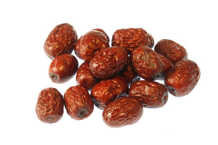 dry dates isolated on white background 免版税图像