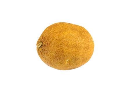 dry lemon isolated on white background