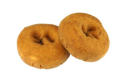 fresh plain cake donut isolated on white background