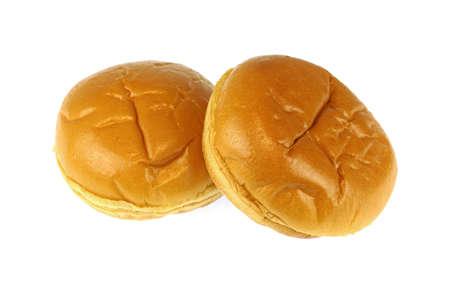 fresh baked bread isolated on white background