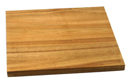 wooden chop board isolated on white background 免版税图像