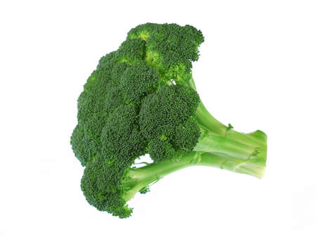 close up on fresh broccoli isolated on white background 免版税图像