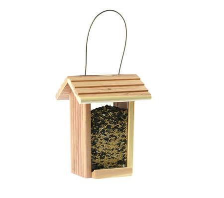 bird feeder isolated on white background 免版税图像