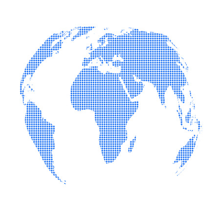 Map of the world. Vector illustration. World map.